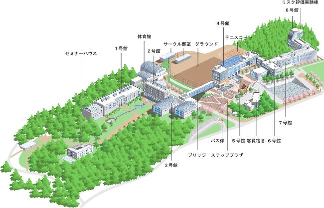 大学構内マップ