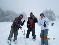 山頂は雪景色です