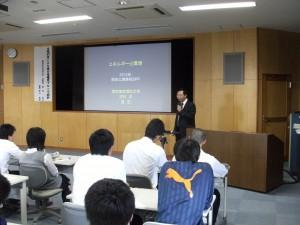 岡谷工業高等学校との連携授業1