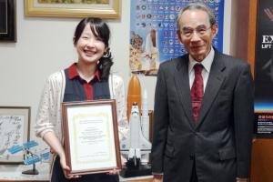 後日、河村学長先生に受賞の報告をおこない あたたかい御言葉を頂きました