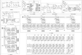 学生が回路設計ソフトCADを使って製作した設計図. 2号機の制御基板はSDカードをもつ組み込みシステム