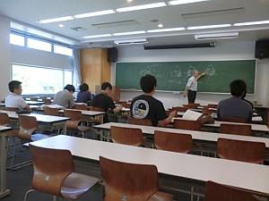 8月29、30日の2日間行われた 試験対策講座の受講の様子