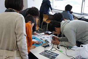 電子工作部の工作教室